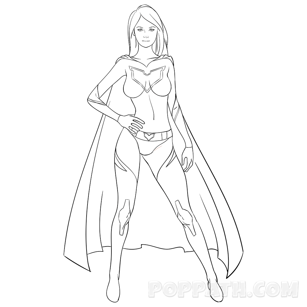 How To Draw Girl Superheroes