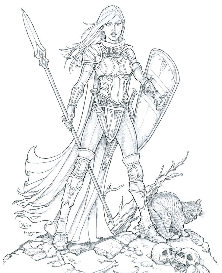 Female Warrior Drawing At Getdrawings Com Free For