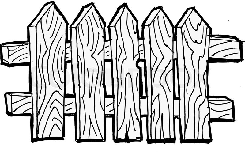 Fence Drawing at GetDrawingscom Free for personal use Fence
