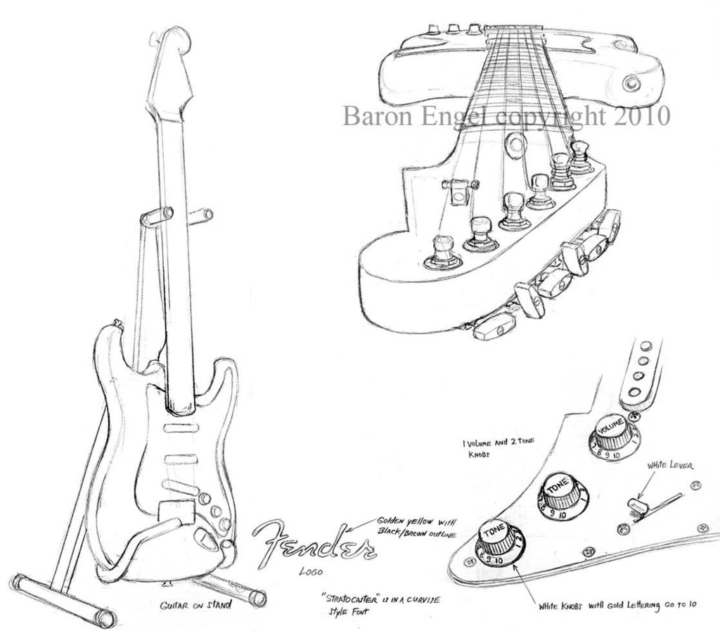 the best free fender drawing images  download from 131 free drawings of fender at getdrawings
