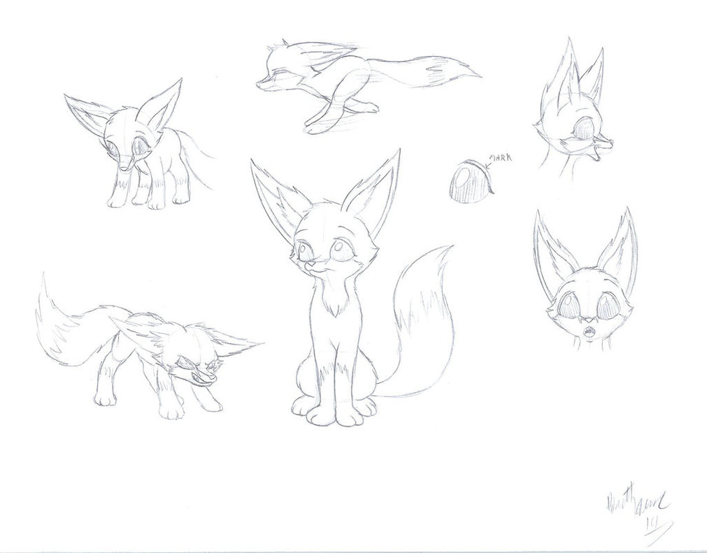 Line Drawing Fox : Fennec drawing at getdrawings.com free for personal use