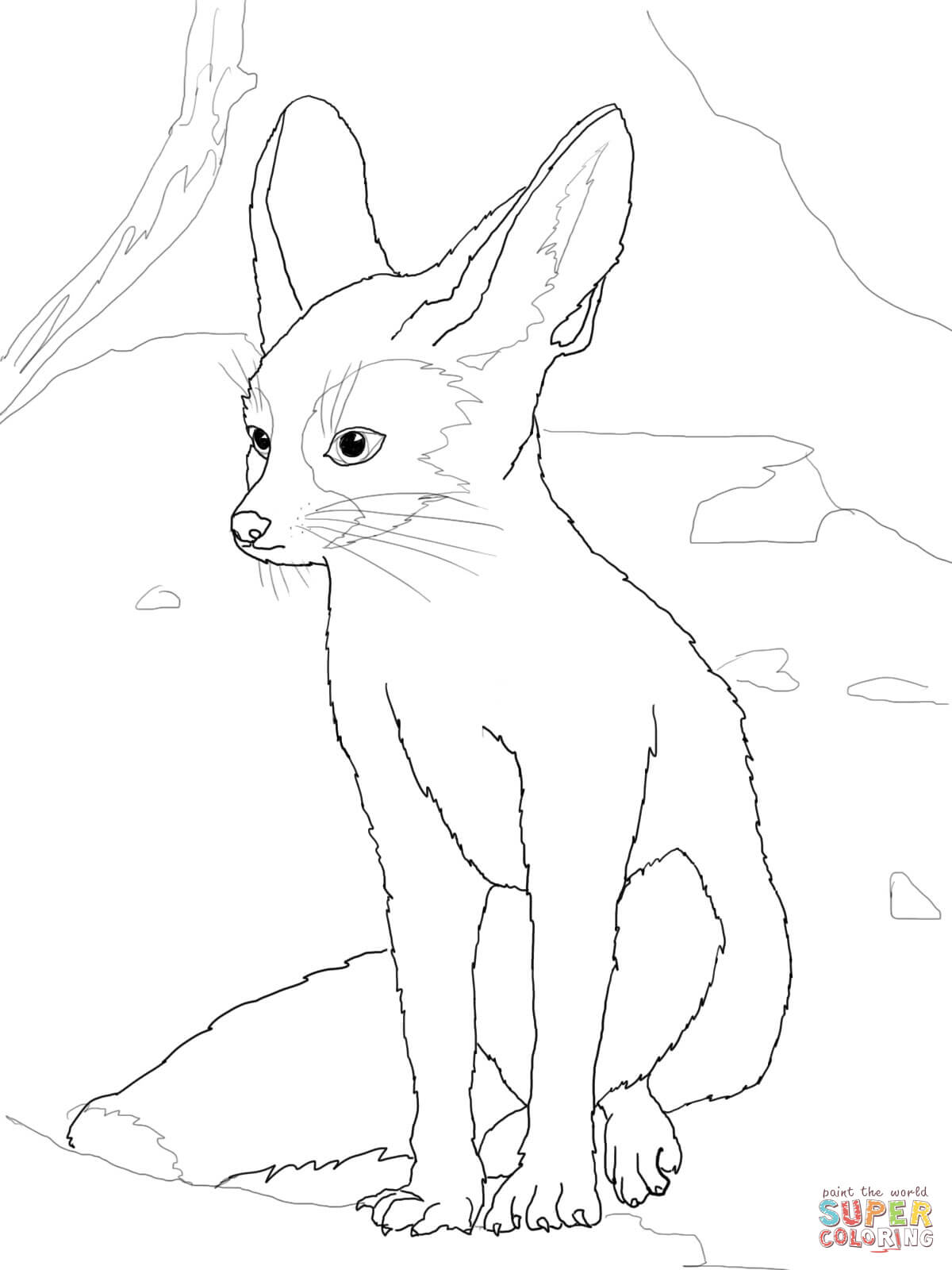 Fennec Fox Drawing at GetDrawings | Free download