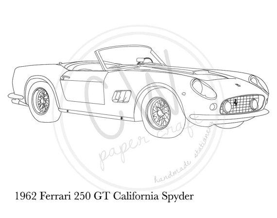 Ferrari 458 Drawing