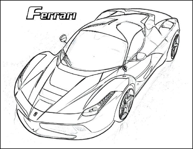 Ferrari 458 Drawing At Getdrawings Com Free For Personal Use Bvlgari Clock Car Coloring