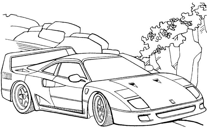 700x448 Ferrari F40 Coloring Page Pinterest