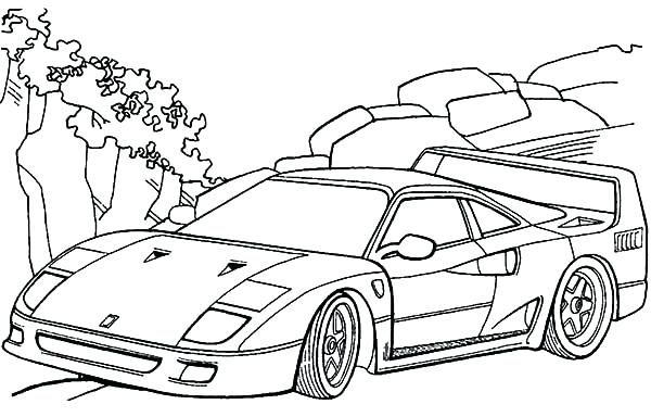 600x384 Enzo Ferrari Coloring Pages Printable And Download Free General