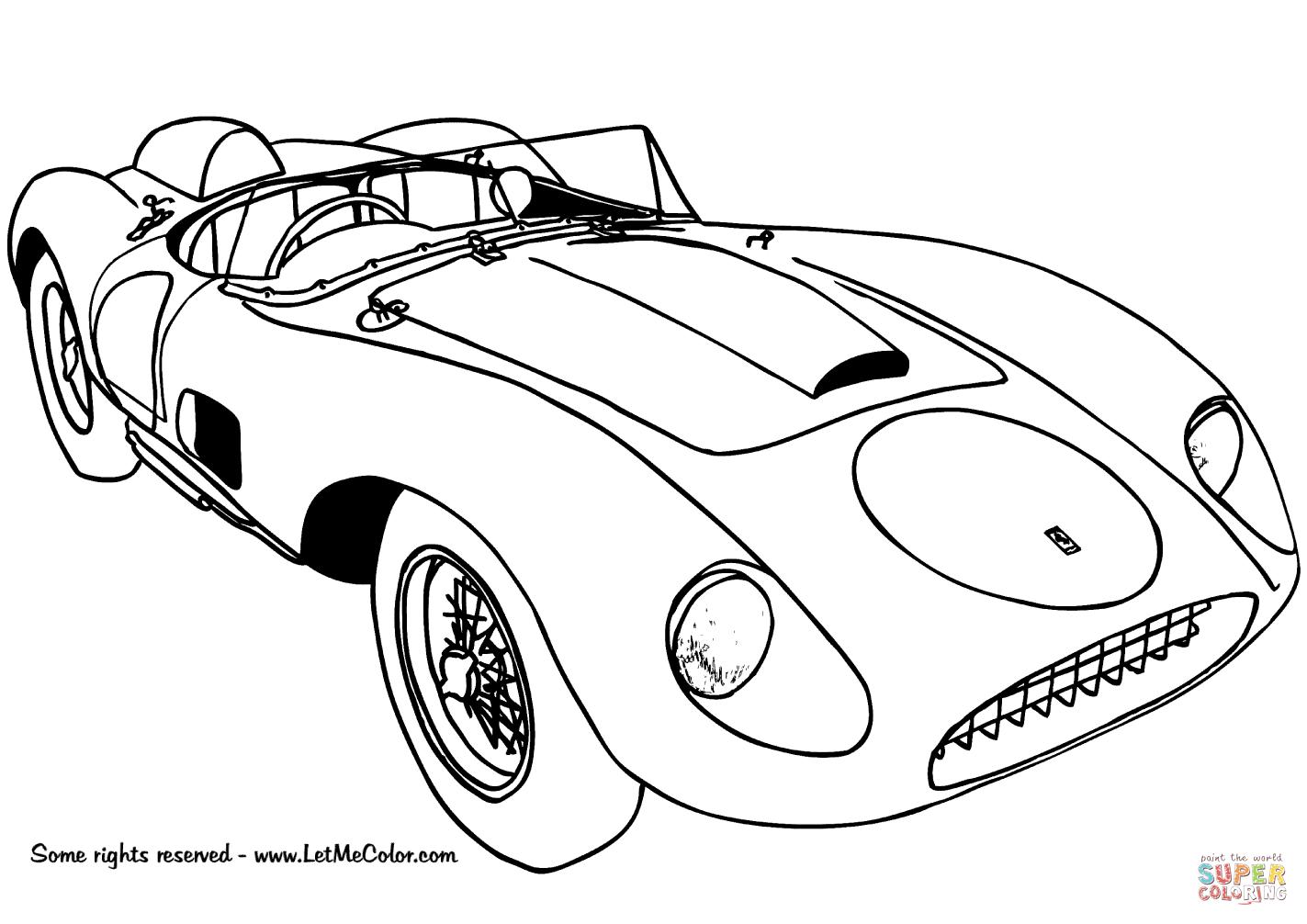 1423x1006 1957 Ferrari 625 Trc Spyder Coloring Page Free Printable