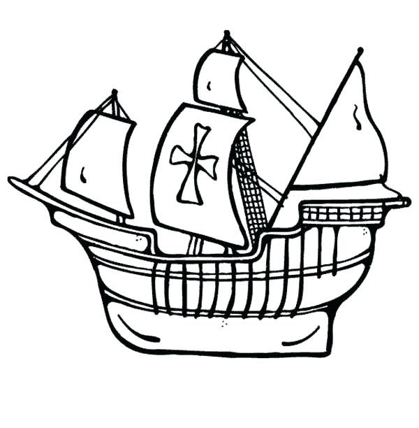 600x612 Ferry Boat Coloring Pages Sailing Pirate Ship Page Free Printable
