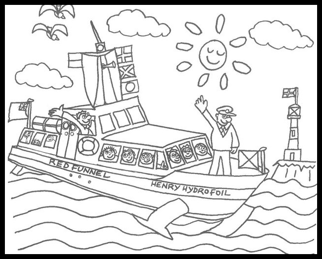 657x529 Ferry Coloring Pages