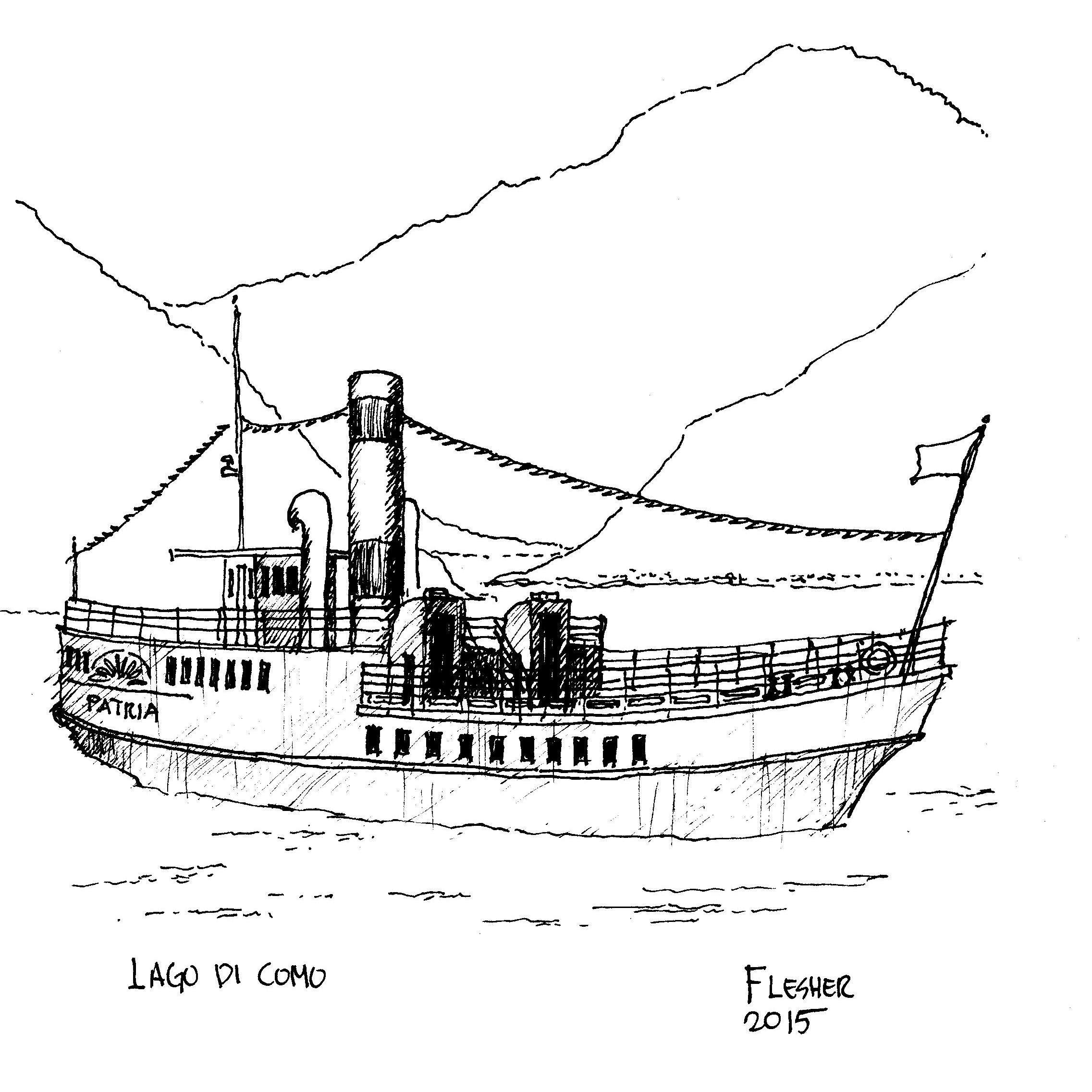 2273x2273 Lake Como Sketches Europe On 15 Espressos A Day