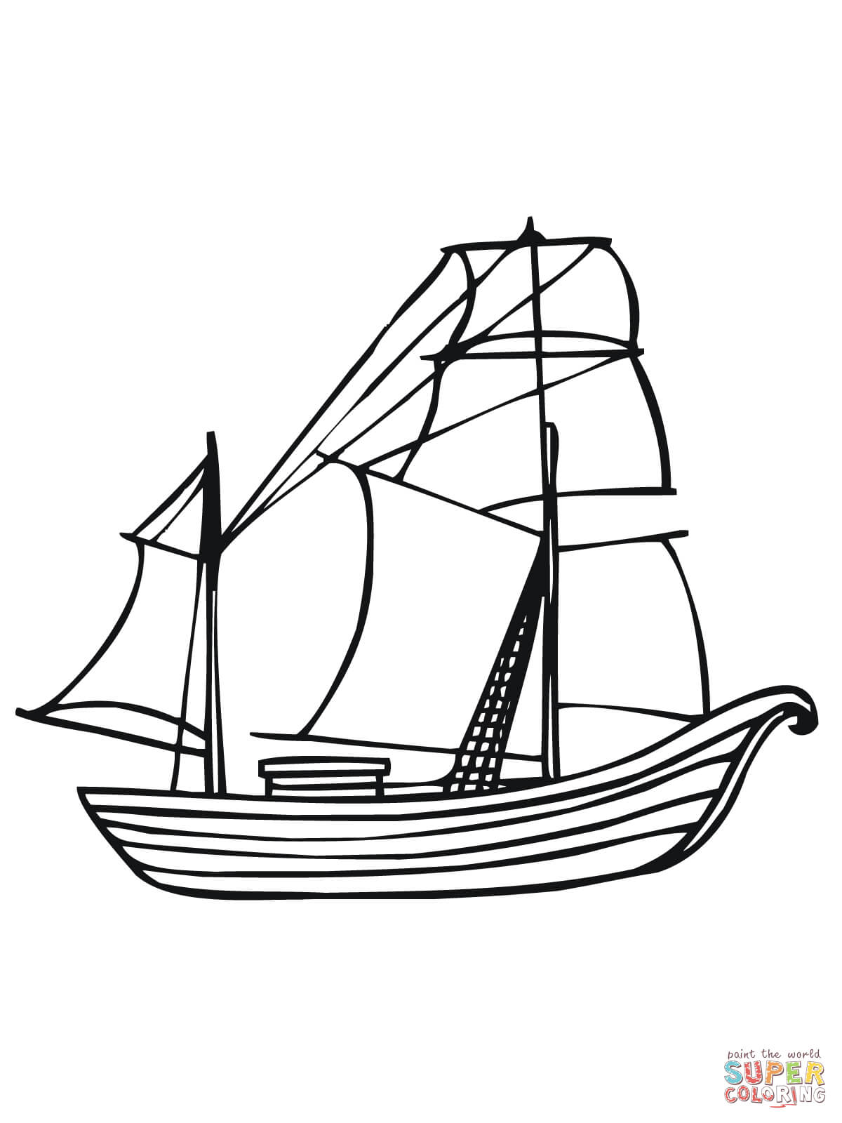 1200x1600 Norway Traditional Boat Coloring Page Free Printable Coloring Pages