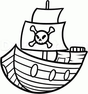 371x397 Resultado De Imagem Para Pirate Ship Drawing Easy Projeto Loot