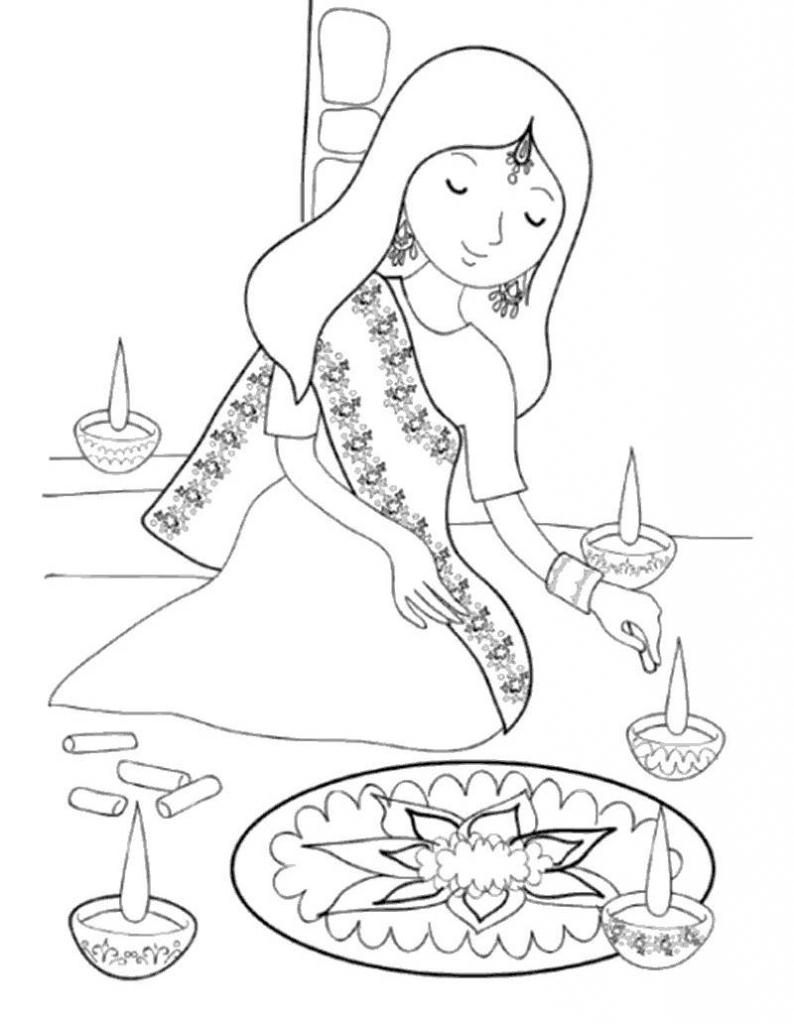 794x1024 diwali images with sketch beautiful face drawings on diwali