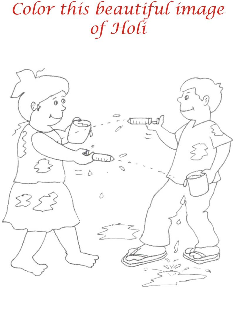 800x1055 Holi Coloring Pages