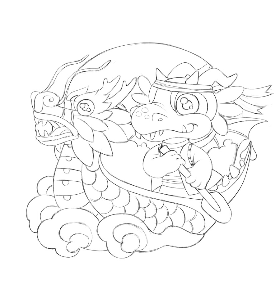 900x960 How To Create A Vibrant Dragon Boat Illustration In Paint Tool Sai