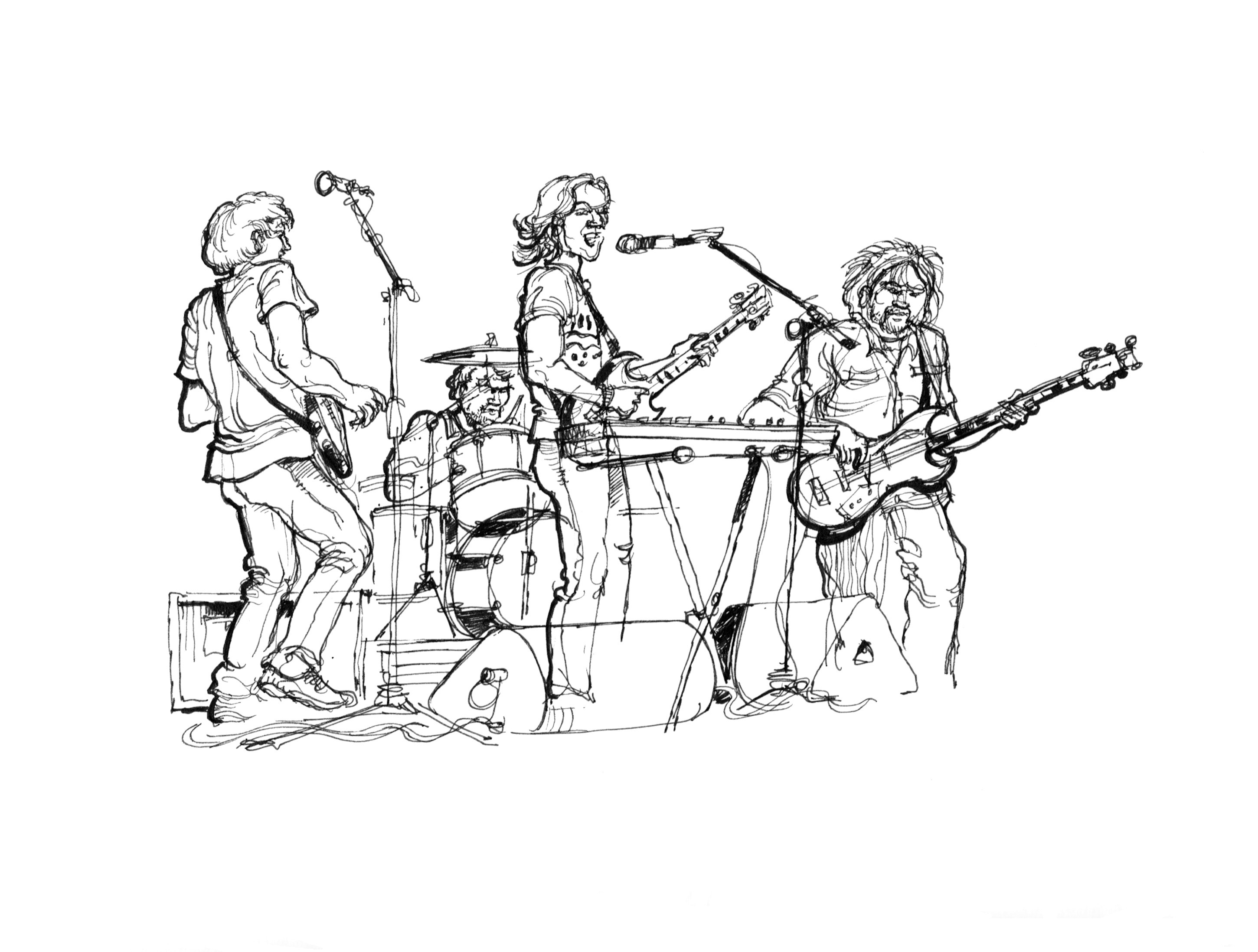 2901x2196 Dai's Reportage Drawing Bands Amp Varied Musicians