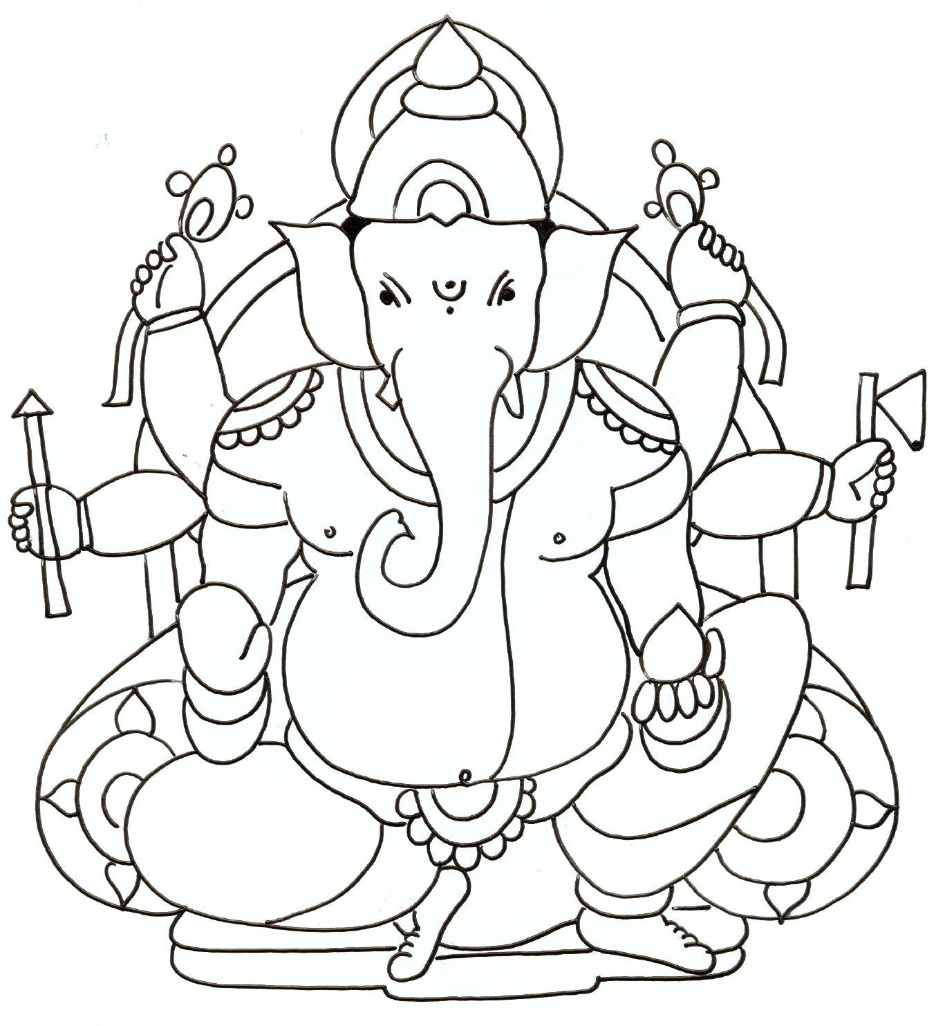 1367x1484 Ganesh Drawings For Kids Festivals Pencil Art