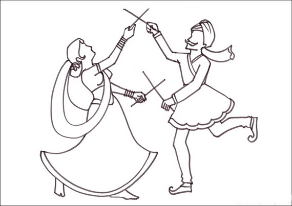 570x403 Navratri And Dussehra Festival Coloring Pages
