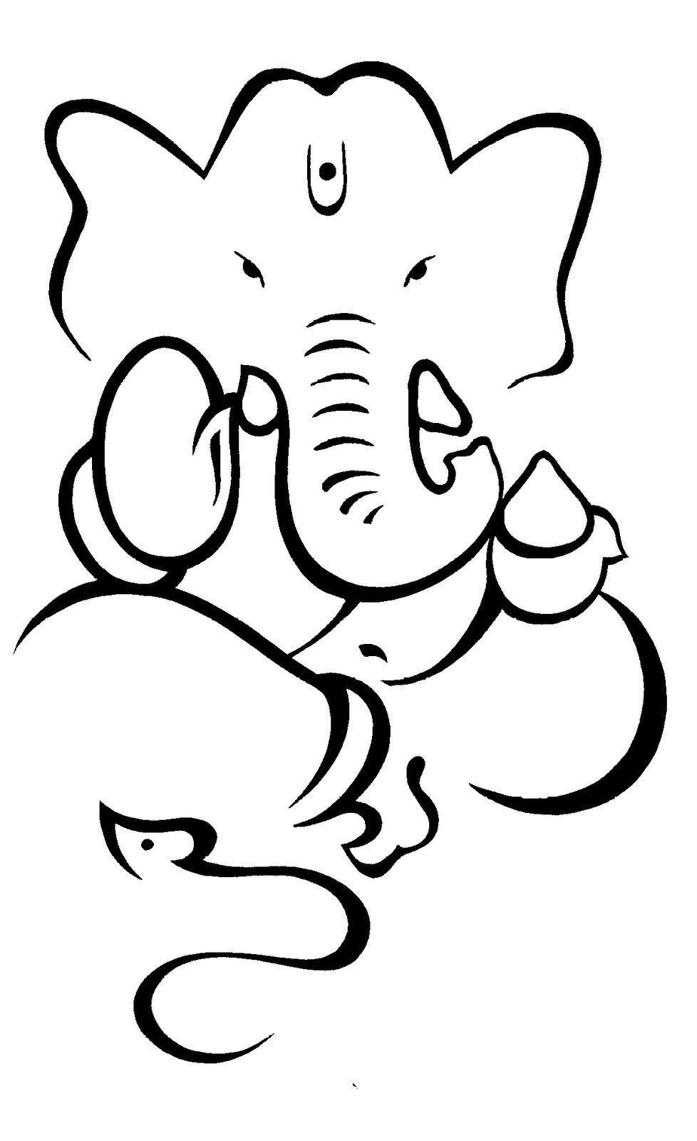 978x1600 Simple Drawings Indian Festivals Ganesh Outline Free Download