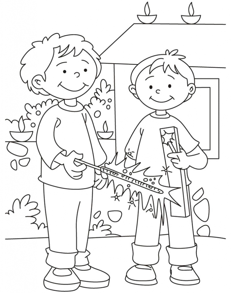 807x1024 Drawings On Diwali Festival For Children