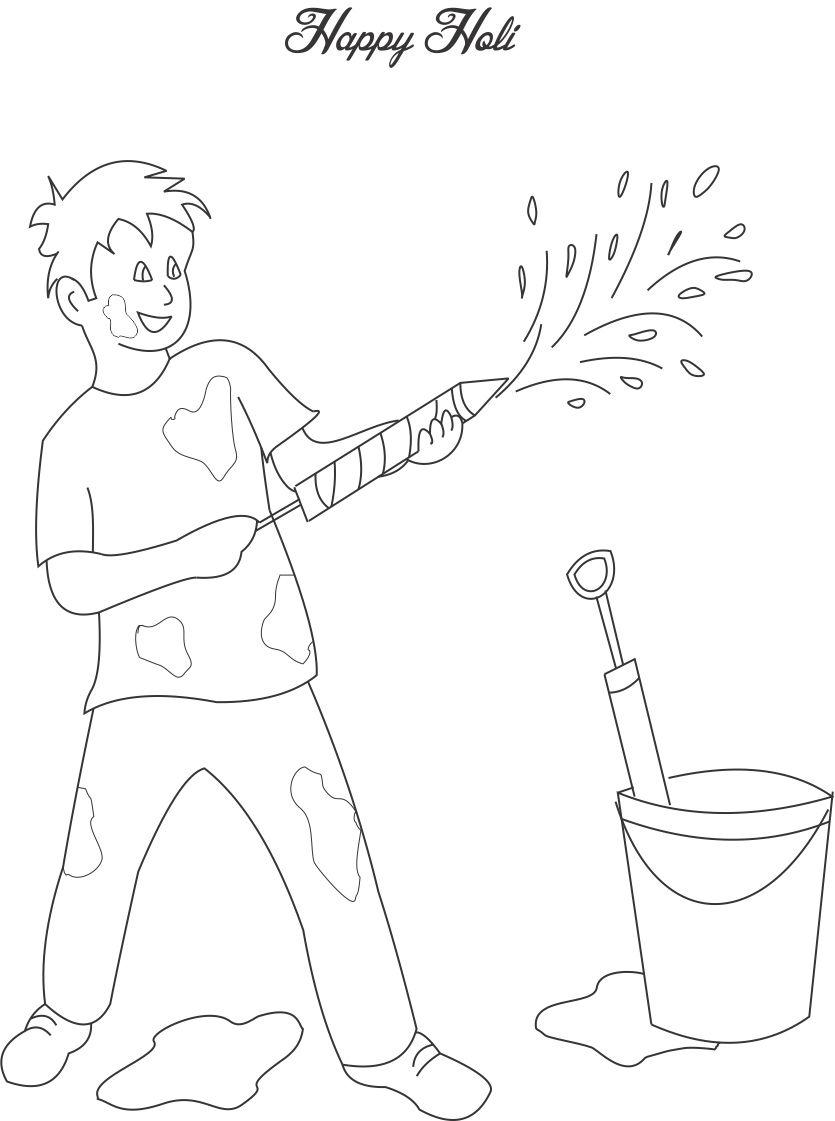 835x1121 Holi Coloring Pages
