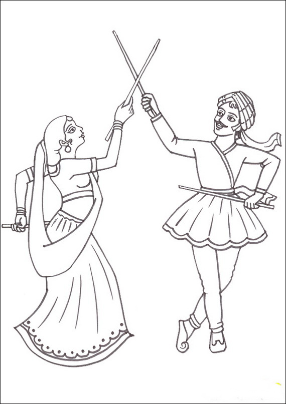 570x807 Navratri And Dussehra Festival Coloring Pages