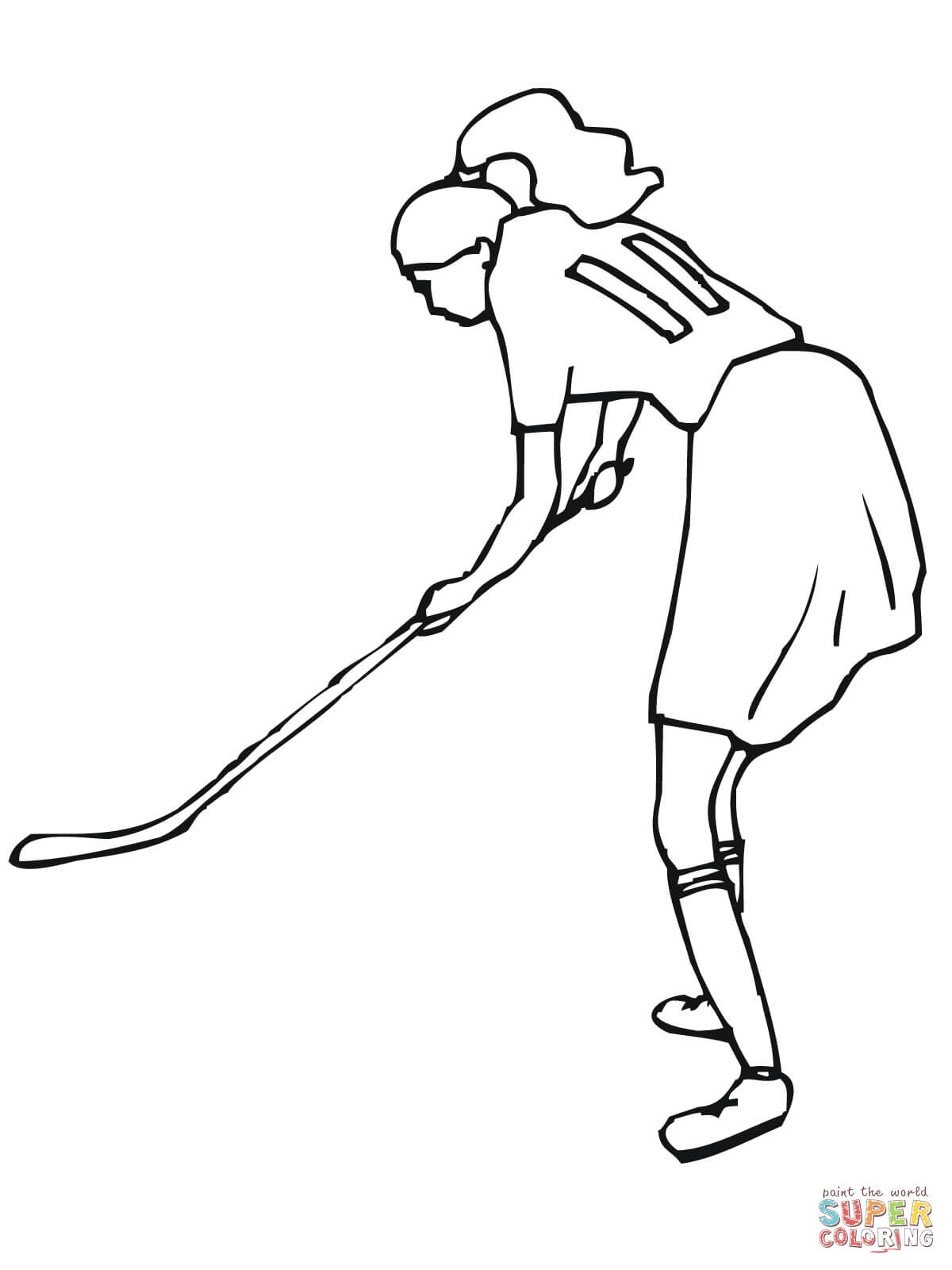 field hockey stick drawing at getdrawings free