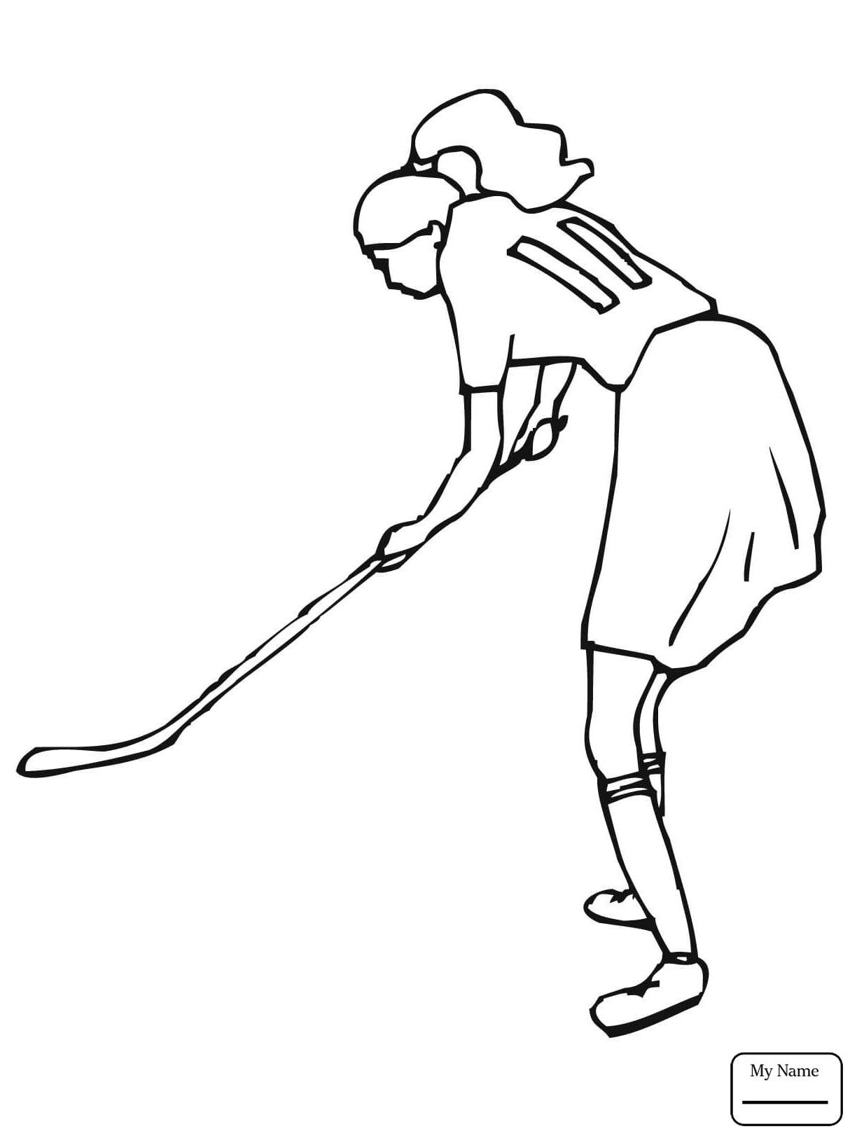1224x1632 Sports Girl Plays Field Hockey Field Hockey Coloring Pages