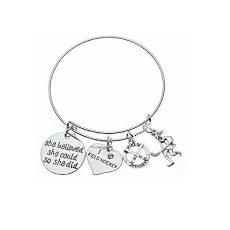 466x466 Field Hockey Bracelet, Field Hockey Jewelry, Field