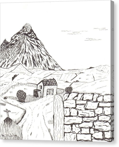 502x622 The Mountain Beyond The Fields Drawing By Martin Blakeley