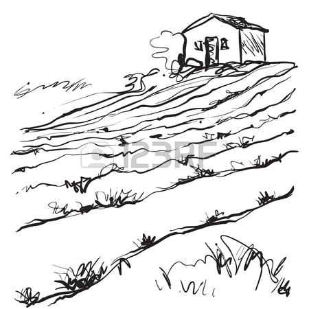 450x450 Hand Drawn Illustration Of A Fields Royalty Free Cliparts, Vectors