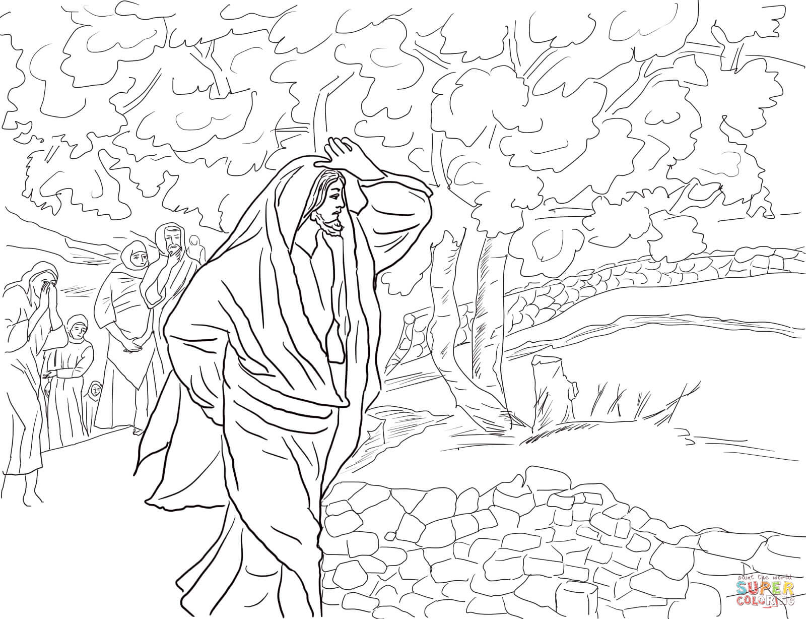 1600x1228 Jesus Curses The Fig Tree Coloring Page Free Printable