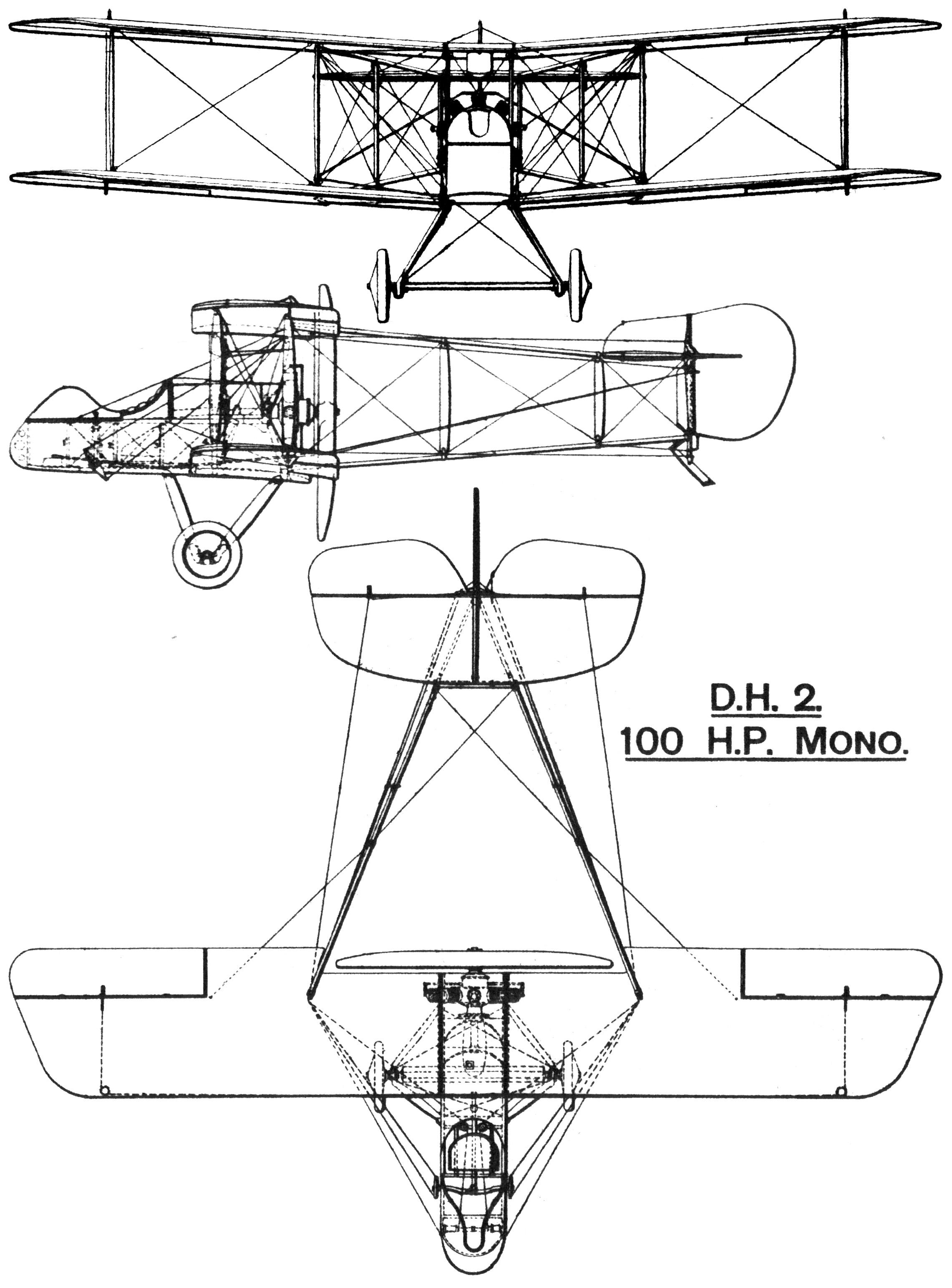 2282x3087 Fileairco D.h.2 British First World War Single Seat Fighter