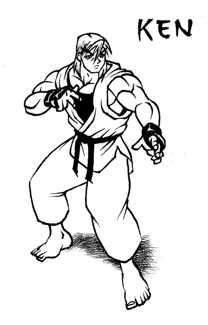 715x1116 Ken Street Fighter Drawing By Animegris