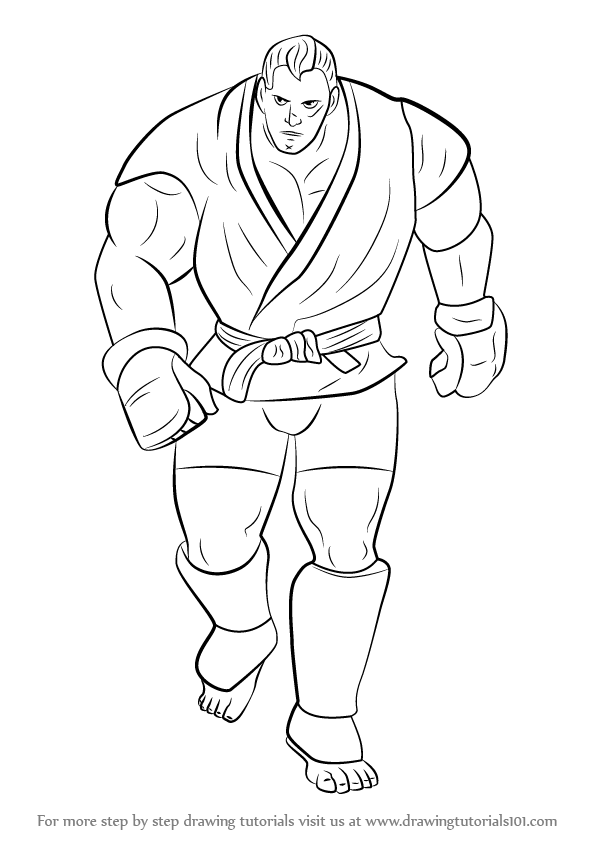 596x842 Learn How To Draw Abel From Street Fighter (Street Fighter) Step