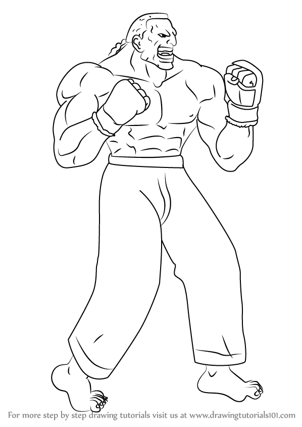 598x844 Learn How To Draw Dee Jay From Street Fighter (Street Fighter