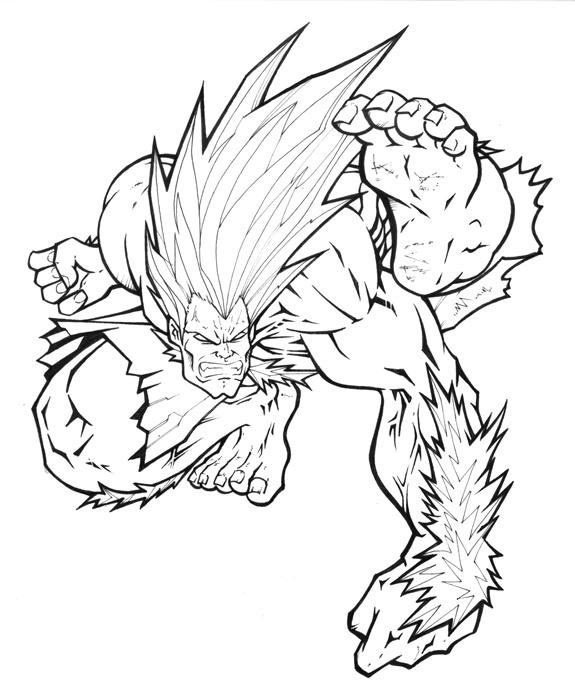 575x700 Street Fighter Mania Blanka By Alexlapiz