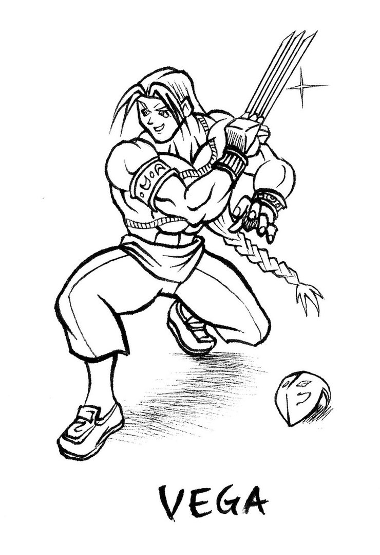 740x1079 Vega Street Fighter Drawing By Animegris
