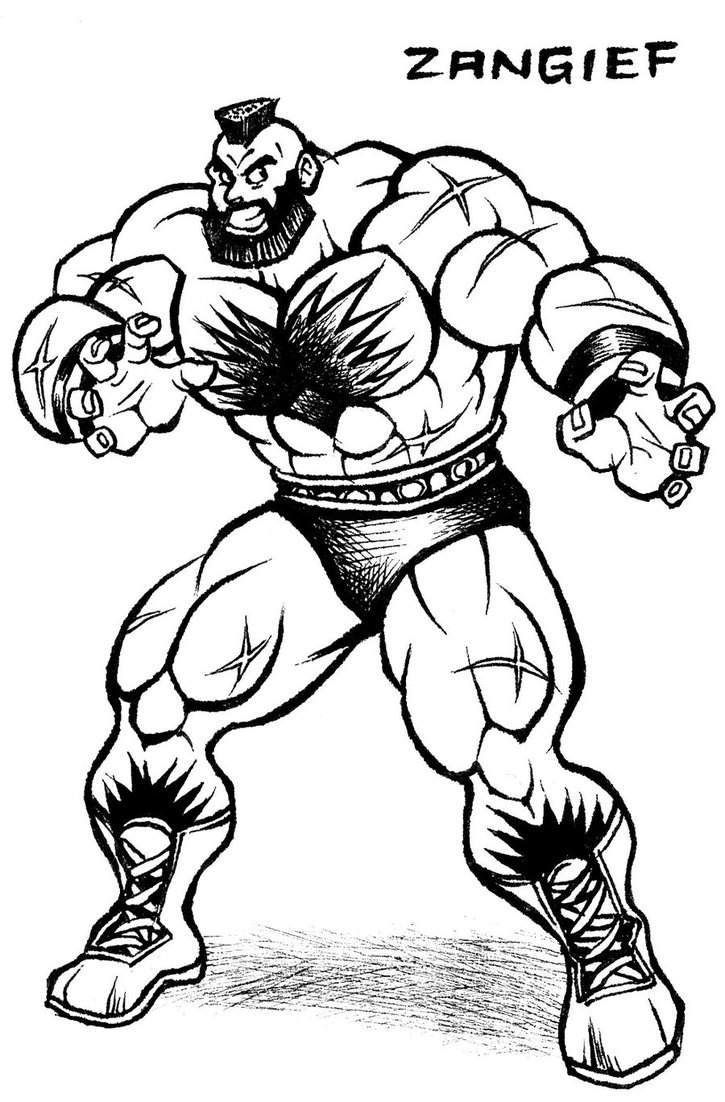 725x1102 Zangief Street Fighter Drawing By Animegris