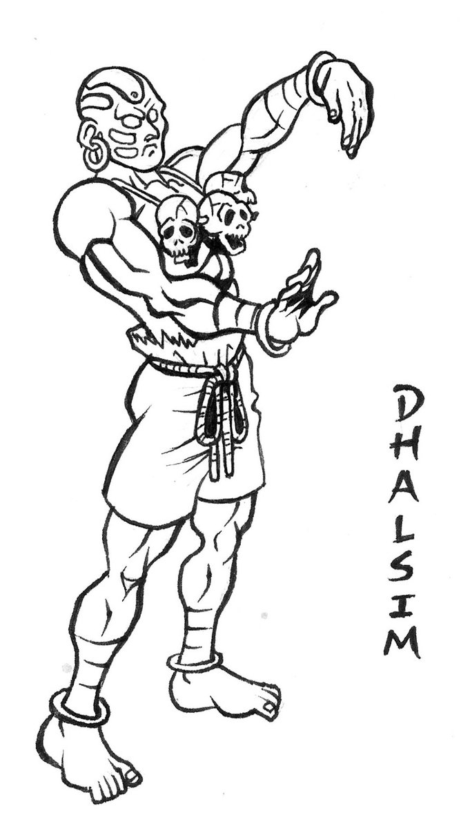 668x1197 Dhalsim Street Fighter Drawing By Animegris