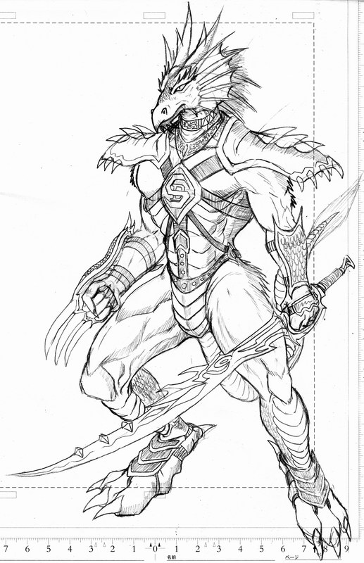 517x800 Dragon Sword Fighter By Wolflsi