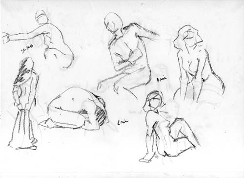 500x364 Lost in Wonder Figure drawing