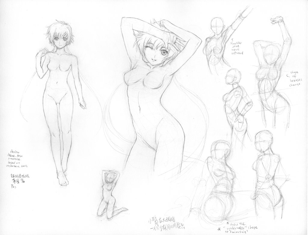 1024x781 Anime Figure Drawing 29 by rainy season on DeviantArt