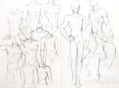 500x370 male figure drawing Tumblr