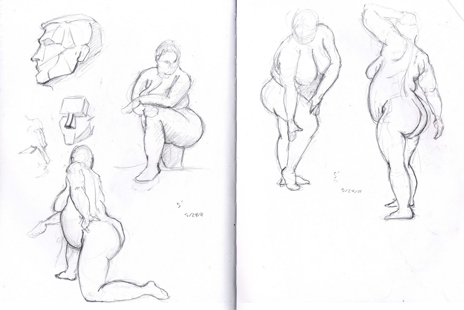 1600x1069 Brandon Orden 2011 Summer Figure Drawing Sketchbook