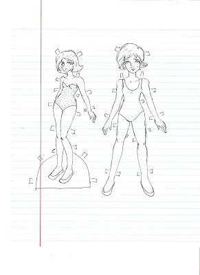 291x400 Miss Missy Paper Dolls Base Sketches