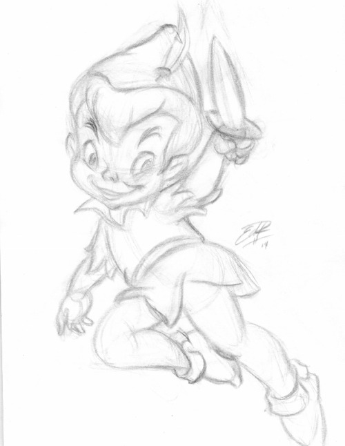 500x646 Peter Pan Sketch Tumblr