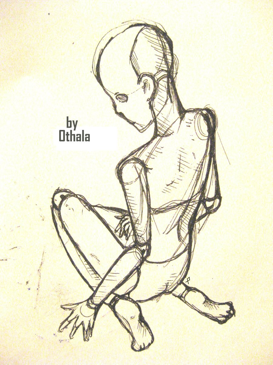 900x1200 Ball Jointed Doll Sketch By 0thala