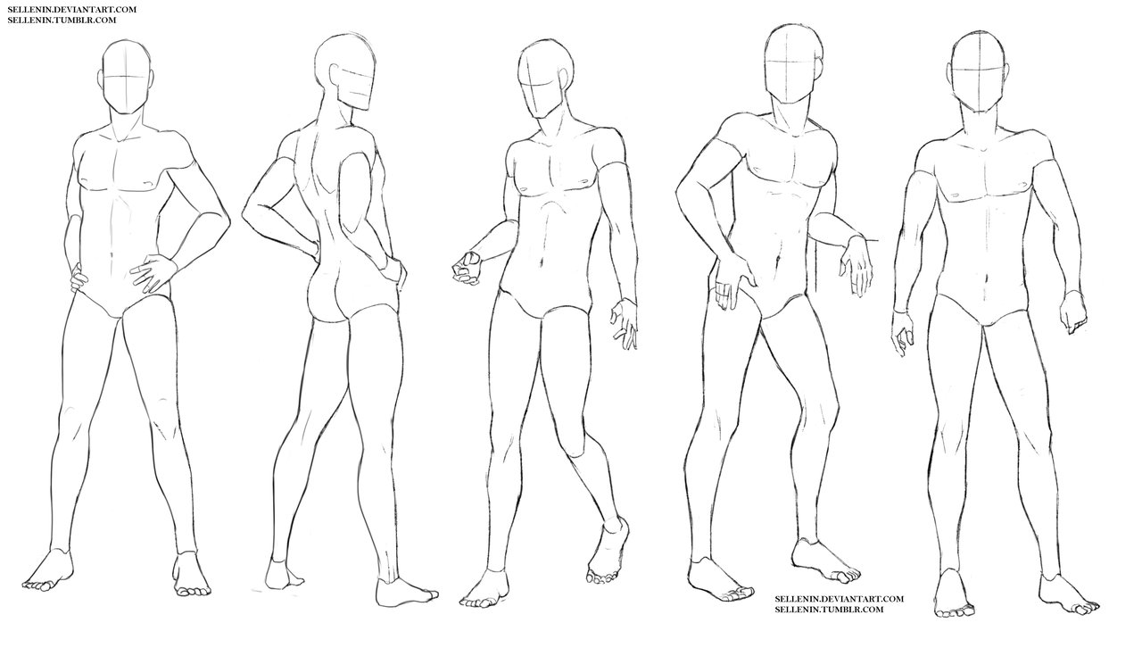 1280x726 Base Like References, Male On Drawingbases