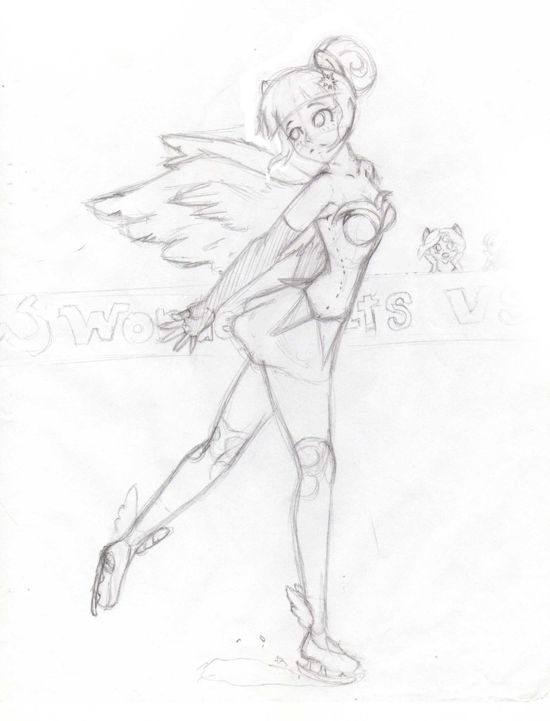 Figure Skater Drawing